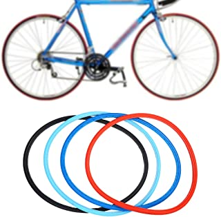 Bicycle Solid Tires Fashion Road Bike Cycling Solid Tire Free Inflatable Tubeless Riding Solid Tires for 700 23C Road Bike Fixed Gear 4 Colors Optional
