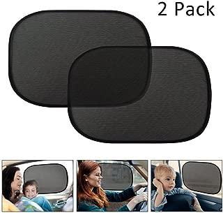 Quaanti Car Side Sun Shade Window Eyes Visor Protection Shield Kids Baby Cover UV Auto Mesh Sunshades (Black)