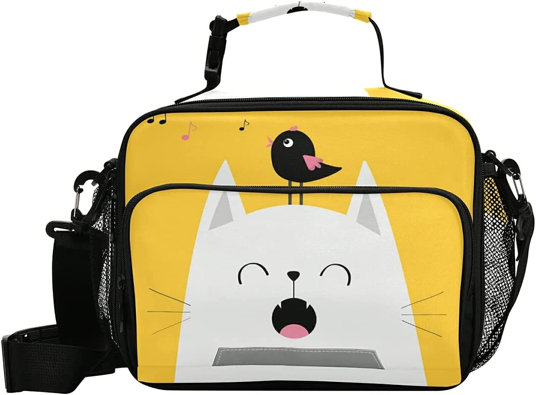 Weekly update White Happy Cat Animal Wholesale Yellow Lunch Kid's B Bag Box
