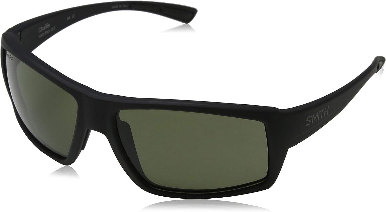Smith Challis DL5 L7 Matte Black Sunglasses Green ChromaPop Polarized Lens