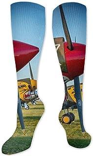Jessicaie Shop, Combatiente Avión militar Calcetines de guerra de aviación Medias de compresión atléticas Ajuste Correr
