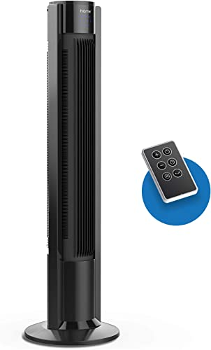 hOmeLabs 40 Inch Oscillating Tower Fan - Multiple Speed and Fan Modes, Built-In Timer and Remote Included - Ideal for...