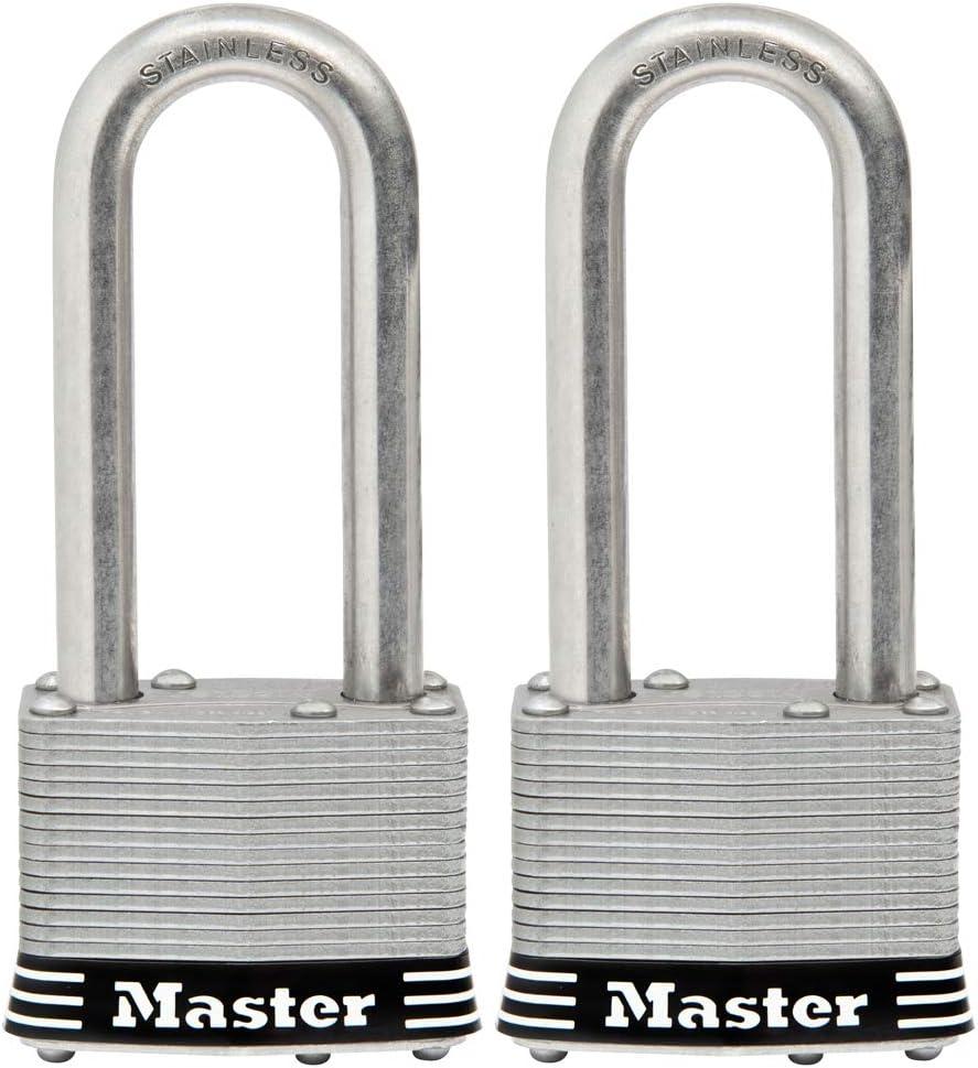 Master Lock 5SSTLJ Inexpensive Stainless Steel Outdoor overseas Padlock 2 Key with P