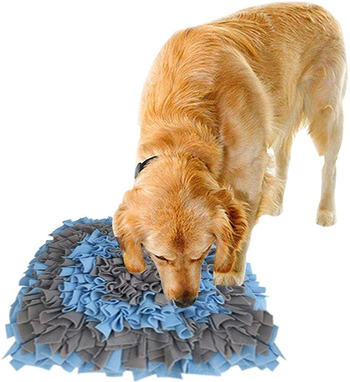 Dog Snuffle Mat Portable Feeding Mat MultiPurpose use Pet Puzzle Toy Sniffing Training Pad Activity Blanket Feeding Mat for Dog Release Stress with AntiSlip Blanket Dog Training Mats17.7217.72in