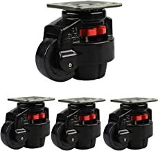 4 stks Meubilair Casters Heavy Duty Castor Intrekbare nivelleermachine Casters met vaste plaat slijtvaste mute zwenkwielen...
