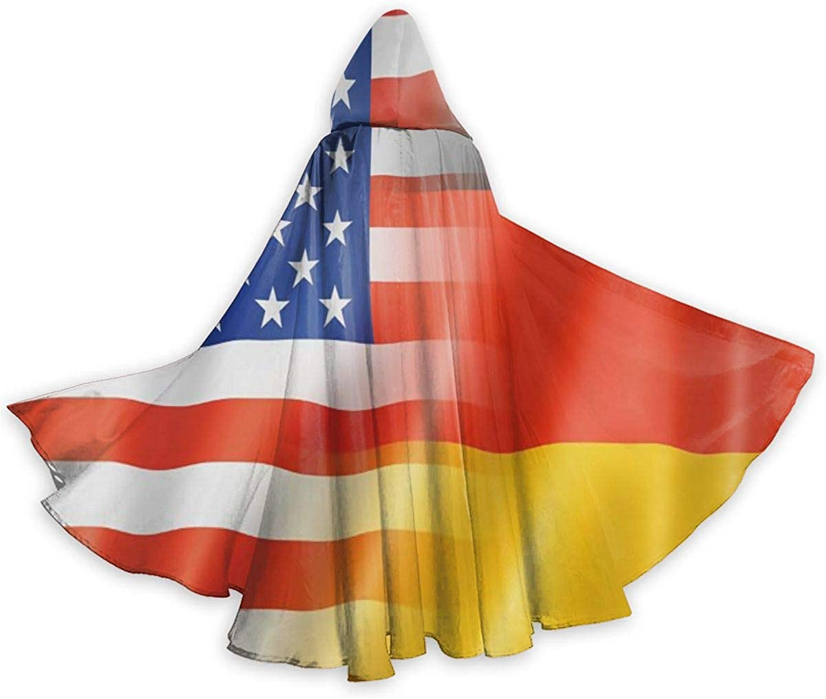Carwayii German and American Flags Hallowee Durable Cloak Manufacturer direct delivery Hooded Max 89% OFF