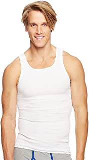 4a67cf00a512a8 Hanes Men s 100% Cotton White A-Shirts Tagless Undershirts Tanks Tank Tops