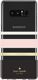 kate spade new york Protective Hardshell Case for Samsung Galaxy Note 8 - Charlotte Stripe Black/Cream/Blush/Gold Foil