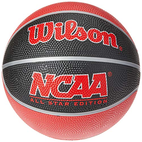 Wilson Unisex NCAA Mini Team Basketball, Black/Red, Mini