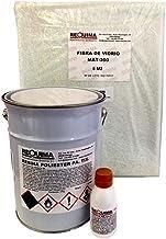 Riegoprofesional Resina de Poliester 5kg para Reparaciones. Fibra 5 m2 Resina de poliéster 5Kg catalizador de peróxido 100 grs