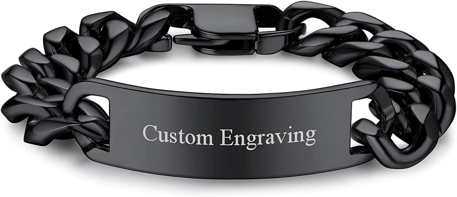 Rare FOCALOOK Personalized Engravable Stainless ID fo Steel Bracelets Max 47% OFF