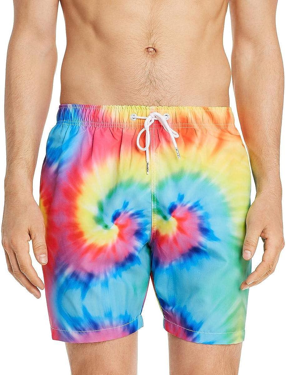 Boardies Mens Striped Beachwear Swim Shorts