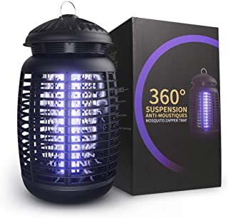 Electric Bug Zapper, Effective 4200V Electric Mosquito Zappers, Mosquito Zappers, Mosquito lamp, Waterproof Outdoor/Indoor Electronic Bug Zapper Light Bulb for Backyard, Patio.