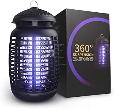 Electric Bug Zapper, Effective 4200V Electric Mosquito Zappers, Mosquito Zappers, Mosquito lamp, Waterproof Outdoor/Indoor -