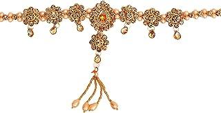 vincy creation Stylish Rose Gold Plated Crystel Pearl Kamarband, kamarpatta, Waist Chain, tagdi Gold Polish Waist Belt for...