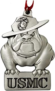 Indiana Metal Craft Marine Corps Pewter Bulldog Sculpted Ornament. Made in U.S.A.