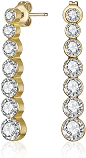 Mestige MSER3310 Women's Gold Plated Crystals Stud Earrings