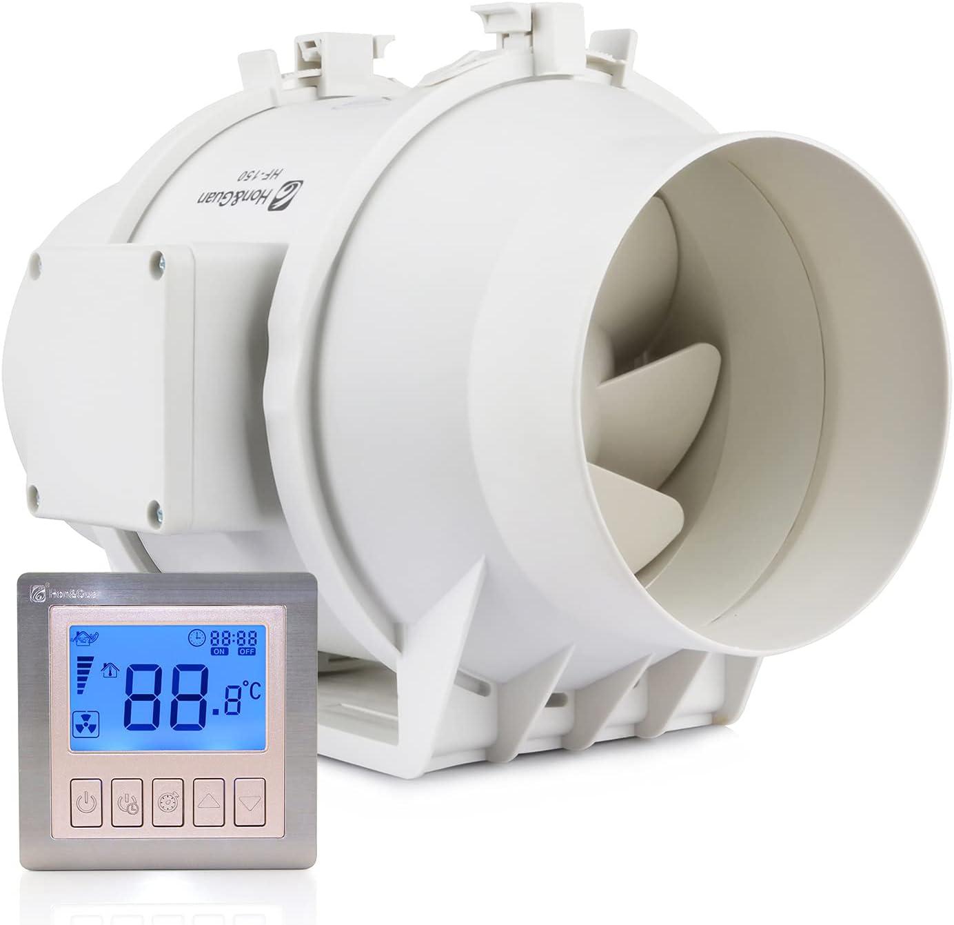 Ventilador de tubo – 410 – 530 m³/h – Ventilador extractor para extracción interior, ventilación y deshumidificación
