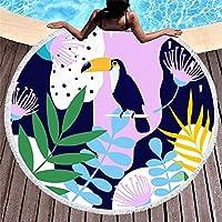 漫画の葉 150 センチメートルラウンドビーチタオル壁タペストリーピクニック毛布ポータブルアウトドアスポーツキッズギフトマットヨガマット