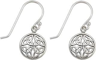 Sterlingsilber Keltisch Irisch Knoten Arbeit Ohrhänger Lang Lang Stil 925