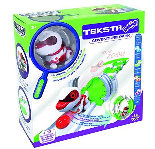 Splash Toys 30622 - TEKSTA Babies DINO Spielset mit Roboter Dinosaurier und Bauteilen für Spielbahn und Laufrad, elektronisches Haustier, interaktiver Saurier, ab 3 Jahre