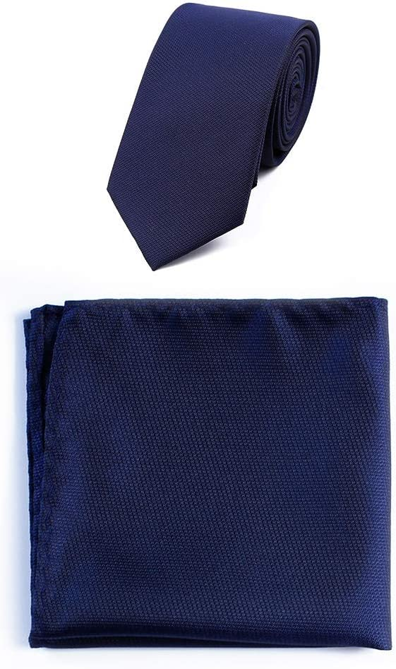 Liyuzhu Men's Business Professional Polyester Jacquard Striped Plaid Solid Color Tie Square Towel Pocket Towel Set Fashion Design Business Tie (Color : 11)