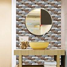 30.48 سم × 30.48 سم ورق حائط ذاتي اللصق قابل للإزالة ورق اتصال على المطبخ الحمام ملصق حائط ثلاثي الأبعاد بلاط
