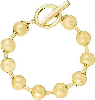 Steve Madden Women's Alloy Beaded Bar Ring Bracelet - SMB499202GD,Gold