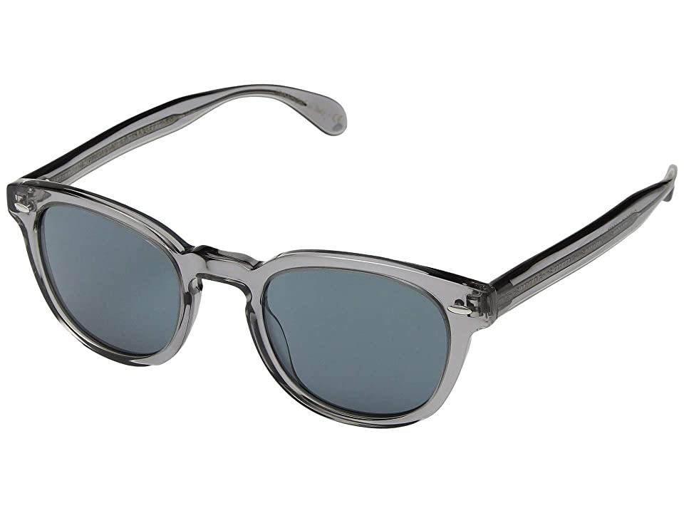 Oliver Peoples Sheldrake Sun (Workman Grey/Indigo) Fashion Sunglasses