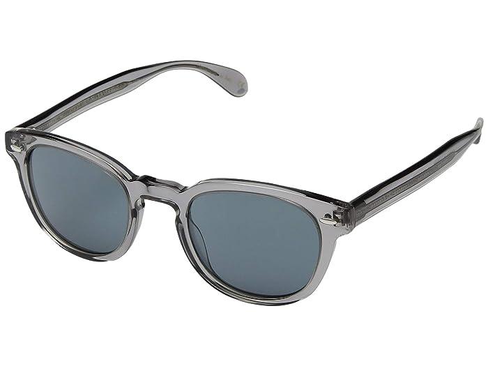 Oliver Peoples Sheldrake Sun (Workman Grey/Indigo) Fashion Sunglasses