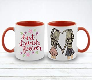 Vista Friendship Mugs - 11oz Inner and Handle color Mugs for Friends