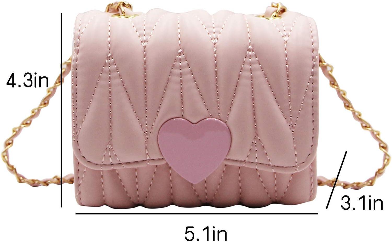 RARITYUS Crossbody Bag Chain Strap PU Leather Shoulder Bag Purse Mini Handbag for Little Girls Kids Toddlers