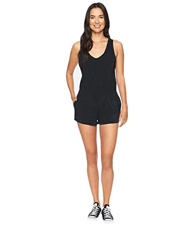 Hurley Coastal Tank Romper (Black) Women