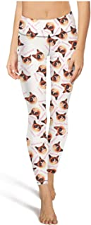 Women's Yoga Pants Grumpy Cat Who Cares Super Soft Yoga Leggings with Pockets