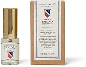 product image for Caswell-Massey Heritage Tricorn Cologne - An Updated Modern Fragrance For Men With Citrus Musky Sandalwood And Cedar Scent (15 ml)