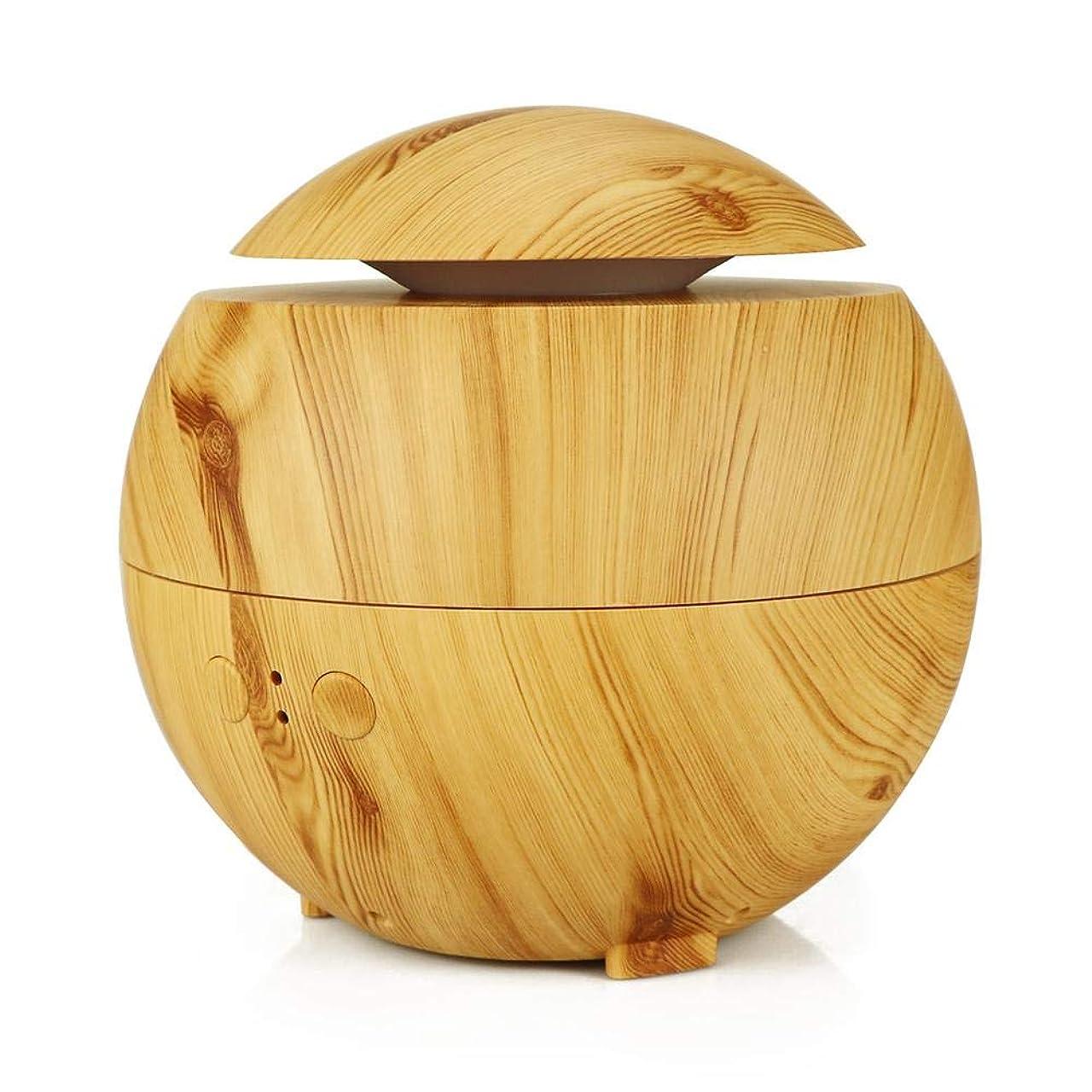 レギュラー階禁輸アロマ加湿器 超音波式加湿器 アロマディフューザー ABSとPP製 600ml 大容量 シンプル おしゃれ 静音 空焚き防止 耐腐食性 長持ち使える 木目調 Styleshow