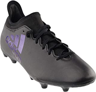 Mens X 17.3 FG Soccer Athletic Athletic Cleats, Black, 9.5