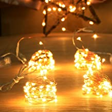Homeleo 4-Pack 50 Led Battery Operated Mini String Lights, Warm White Firefly Fairy Lights for Indoor Christmas Centerpiece Table Small Tree Ornaments Decorations