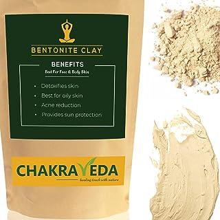 Bentoniet Klei, 100% Natuurlijk, Beste voor huid, Huid whitening, 100g door ChakraVeda