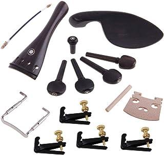 SUPVOX 1 Set de cordier, taco Gut End Button Button Tornillo para mentonera Tornillos Soundpost Puente Tuning Pegs 4 piezas Finos Tuners