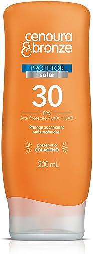 Protetor Solar Fps30 200ml, Cenoura e Bronze