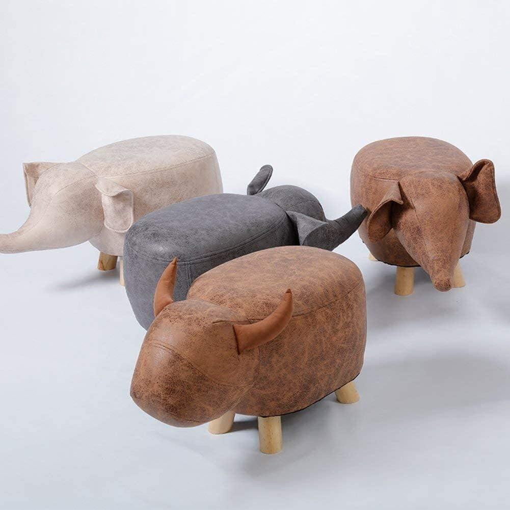 ZHPBHD Tabouret Animaux en Bois Massif Repose-Pieds, Tabouret Mignon créatif for Enfants Chaise for Enfants Chaussures Tabouret for Salon Chambre L60xW32xH36cm (Color : E) C