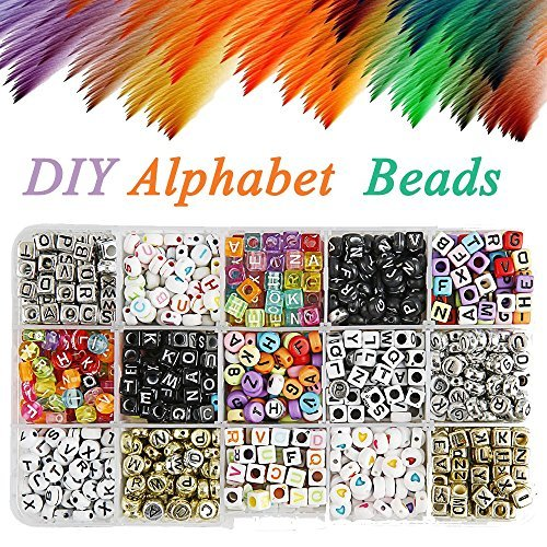 Trendy New Cube Acrylic Letters Beads 3000pcs 500pcs 6*6mm Uv Assoted Colors With Gold Color Enligsh Character Square Diy Beads Choice Materials Jewelry & Accessories