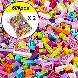 Nologo KLSK 250-1000 Bausteine Stadt DIY kreative Baustein Bulk Modell Zeichen und alle kompatibeles Lernspielzeug (Farbe : Girl 500pcs)