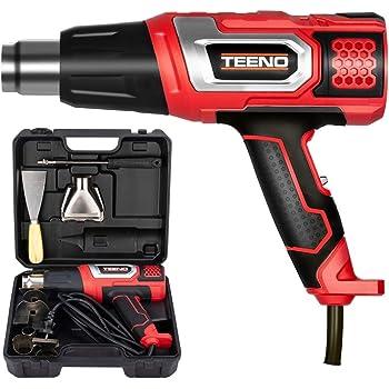 TEENO Décapeur thermique 2000W Pistolet à Air Chaud coffret avec 8 accessoires