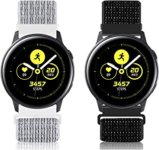 WNIPH 20mm Quick Release Watch Band Compatible with Samsung Galaxy Watch 42mm/Watch 3 41mm/Active2 44mm 40mm, Gear Sport/G...