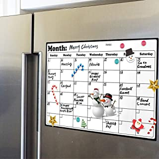 Royalkart Magnetic White Board Planner Sheet (43cm X 33cm) – Dry Erase. Includes 3 Markers & 1 Duster. Can Be Stuck On Ref...
