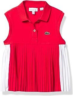 Lacoste Girls' Sleeveless Pleated Polo Shirt