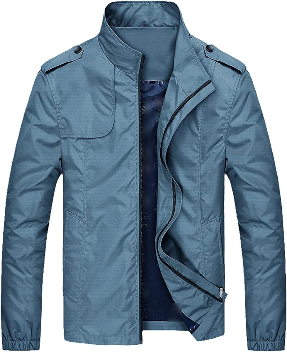 Men's Jacket Spring And Autumn Slim Solid Bomber Jacket Men's Casual Coat Fashion Baseball Jacket