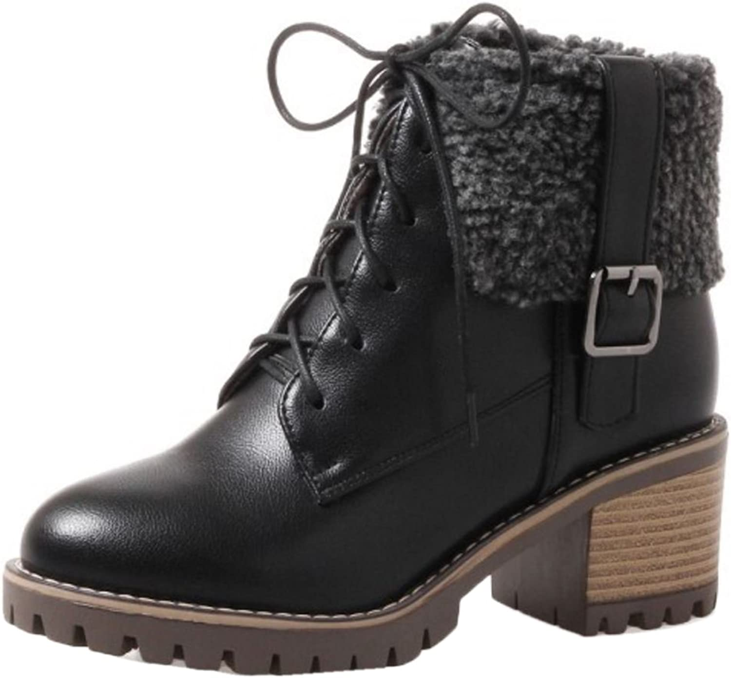 RizaBina Women Fashion Low Top Boots
